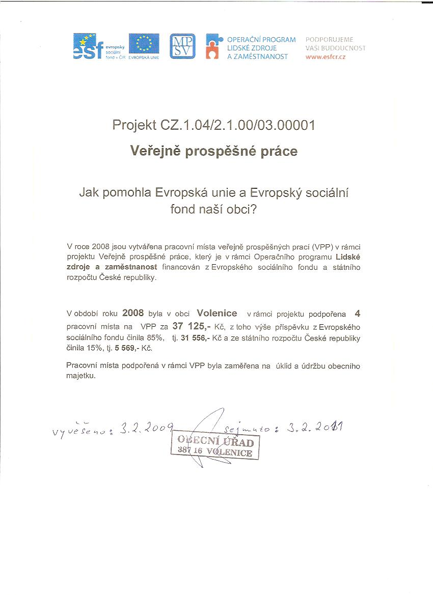 Projekt CZ.1.04/2.1.00/03.00001