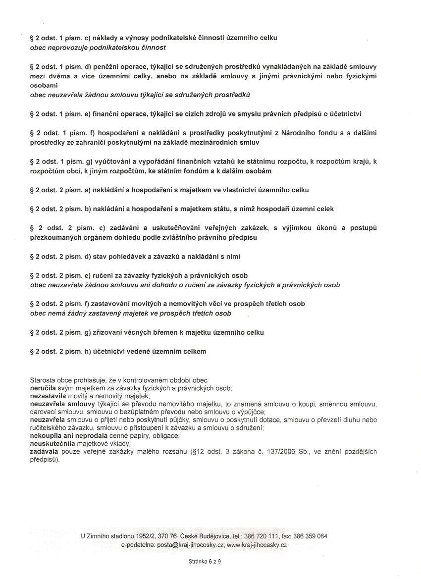 Zpráva o výsledku přezkoumání hospodaření za rok 2011