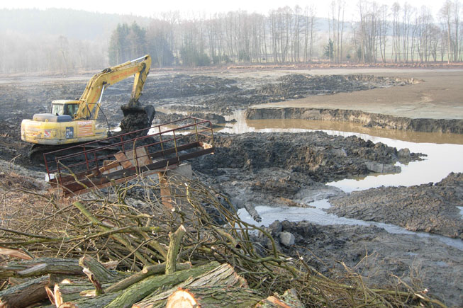 Oprava a odbahnění rybníka Rabský