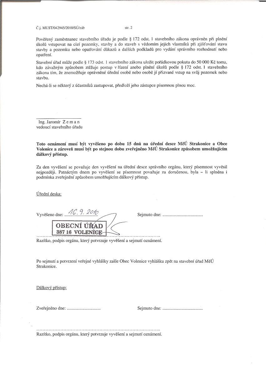 Mstský úYad Strakonice - oznámení