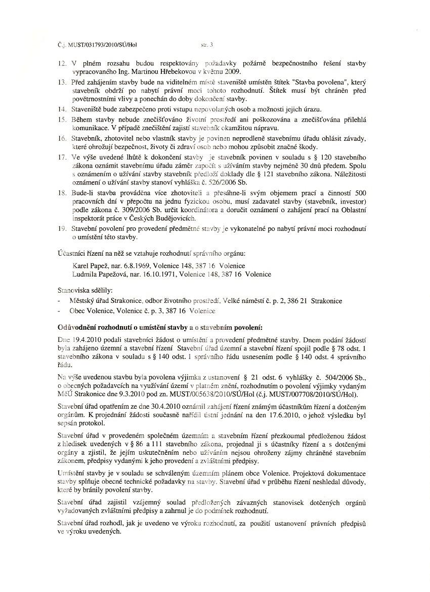 Mstský úYad Strakonice - Rozhodnutí